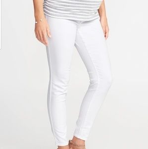 Gap 1969 Real Straight White Maternity Jeans
